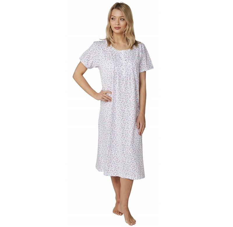 Cotton Nightdress Marlon Cherry Print