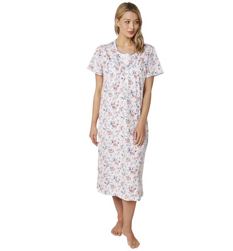 100% Cotton Short Sleeve Nightdress Clancy