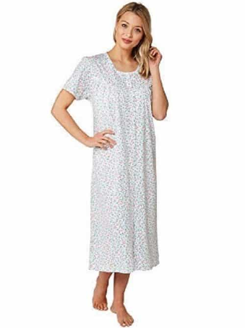 Cotton button down Nightdress Cherry Print Marlon