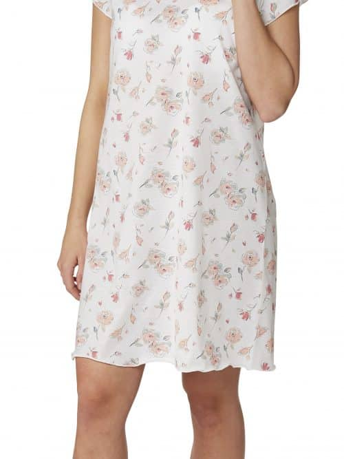 Floral Stripe Nightdress Indigo Sky In22815