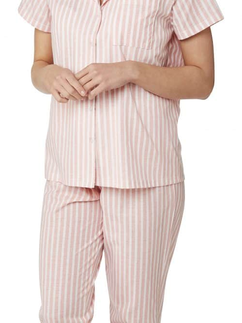 Floral Stripe Pyjamas Indigo Sky In23053