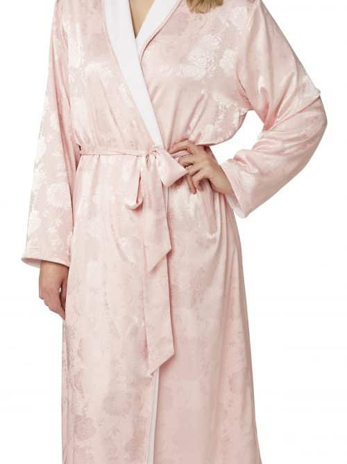 Jaquard Lined Dressing Gown Indigo Sky In23064