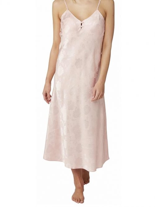 Satin Pink long Nightdress Indigo Sky