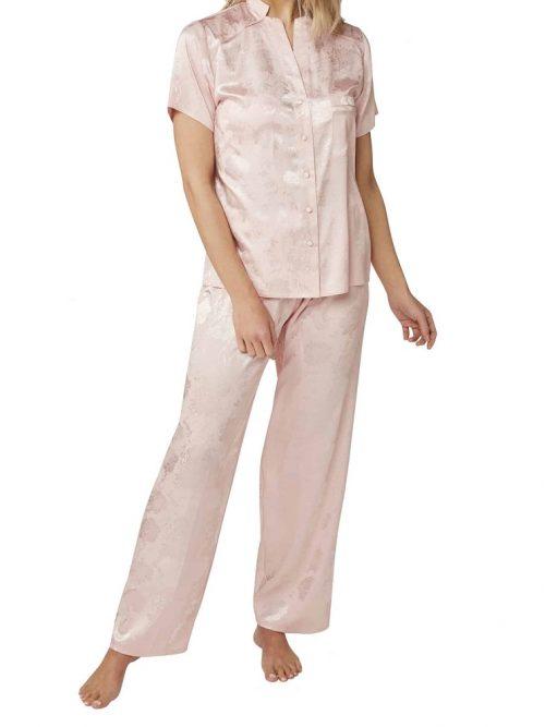 Satin Pink Pyjamas Indigo Sky