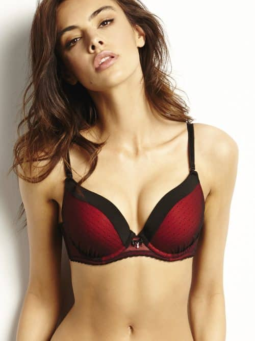 Push Up Bra Agio Crimson Black