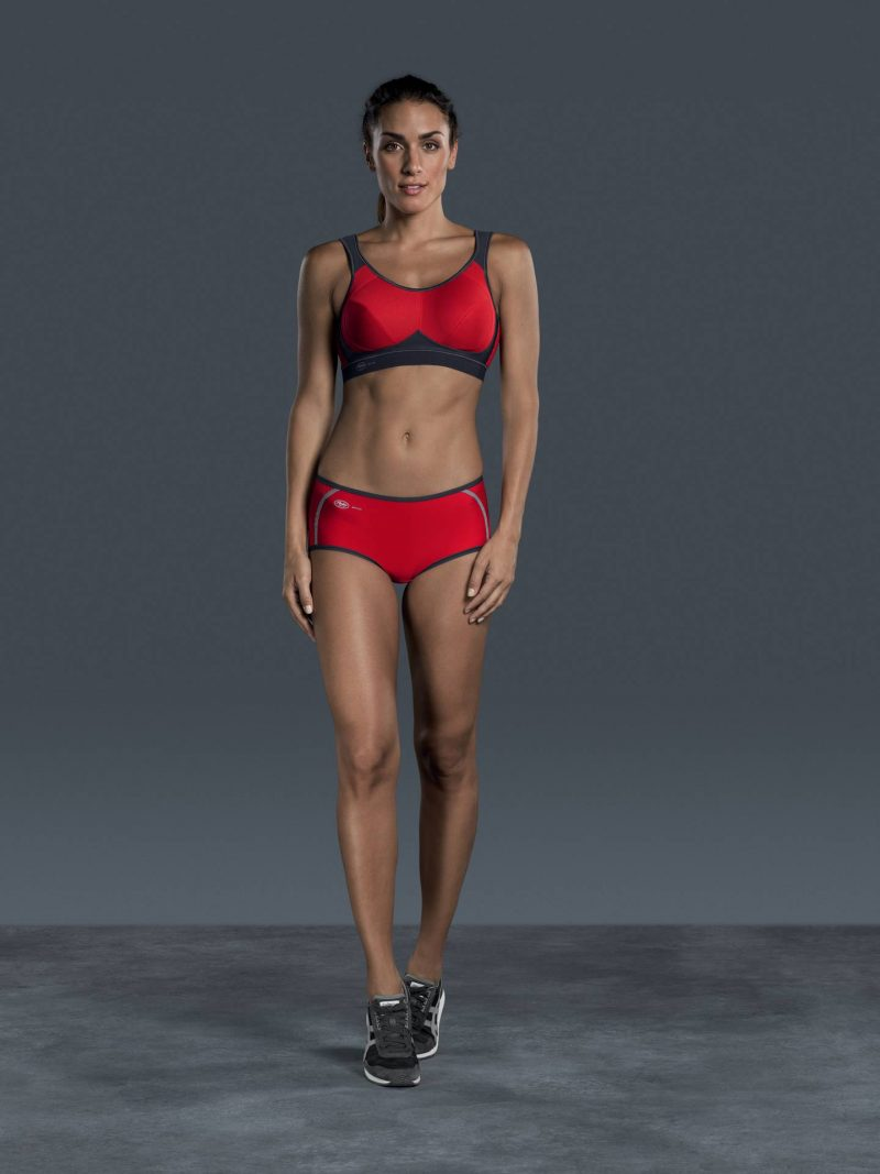 Anita Extreme Control Red Anthracite Sports Bra