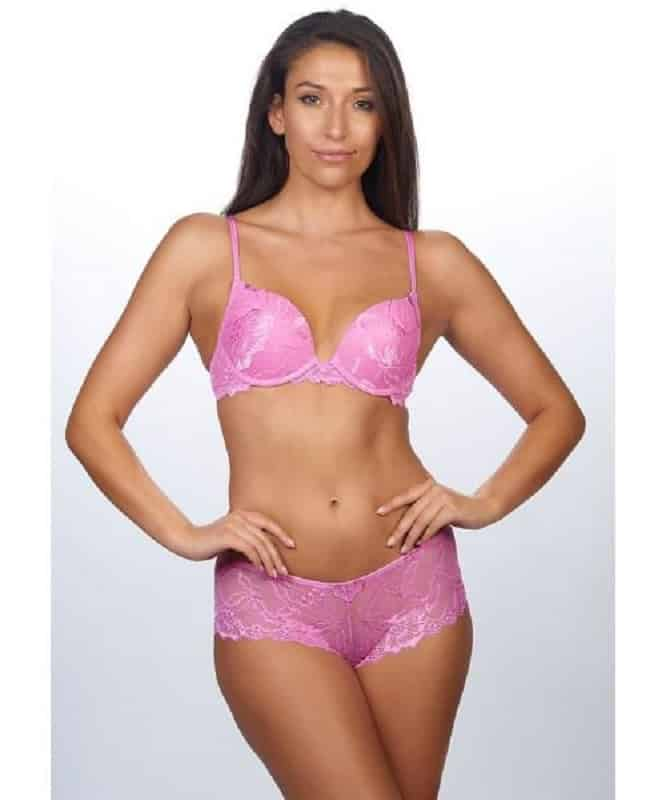 After Eden Pink Lace Anna Bra