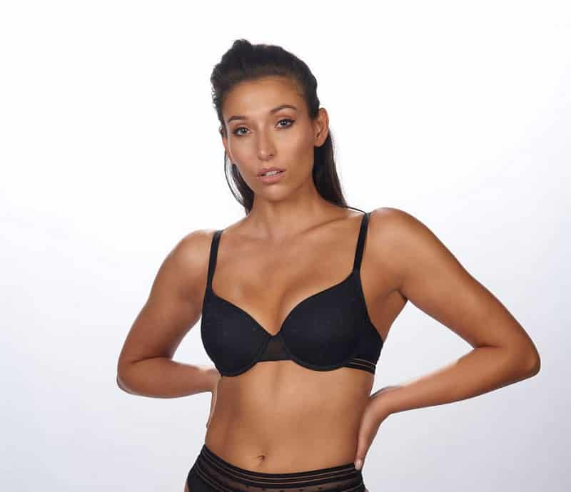 Black Padded Bra After Eden Kirsten