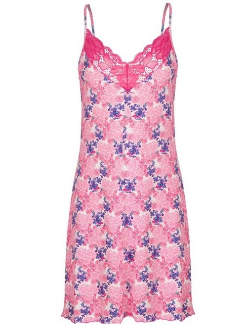 Pink Cotton Nightdress Cybele Floral