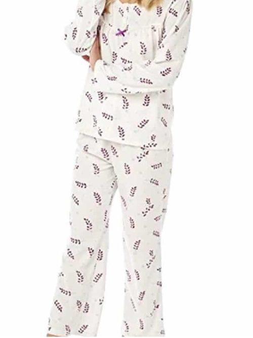 Fleece Pyjamas leafy Print Marlon