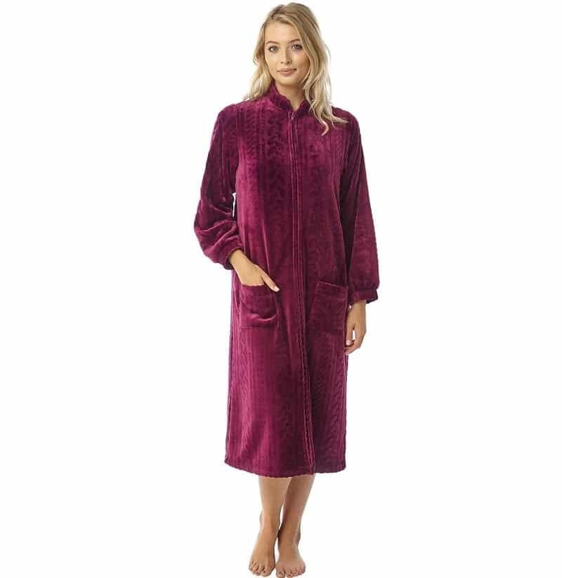Fleece Zip Dressing Gown Marlon