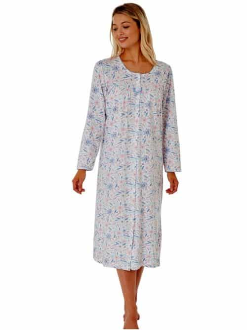 Cotton Long Sleeve Button Down Nightdress Marlon