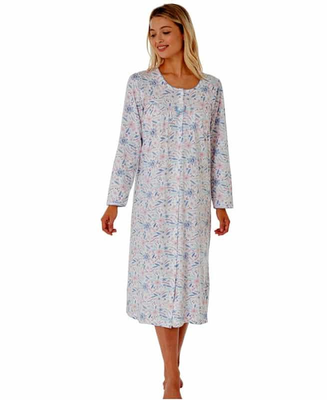 Cotton Long Sleeve Button Down Nightdress Marlon