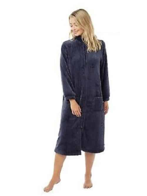 Fleece Button Down Dressing Gown Marlon