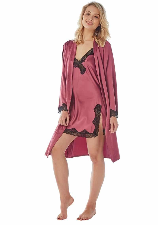 Satin Nightwear Set Indigo Sky Berry