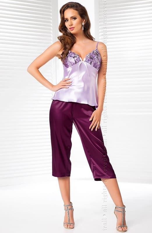 Purple Satin Strappy Pyjama Irall