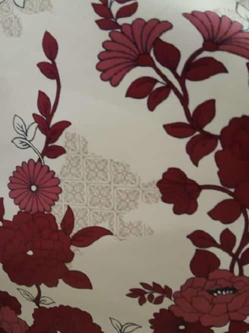 Satin Chemise Floral Berry Indigo Sky