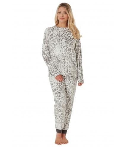 Pyjamas Fleece Cat Print Indigo Sky