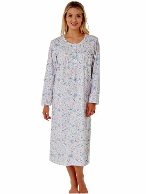 Cotton Long Sleeve Nightdress Marlon