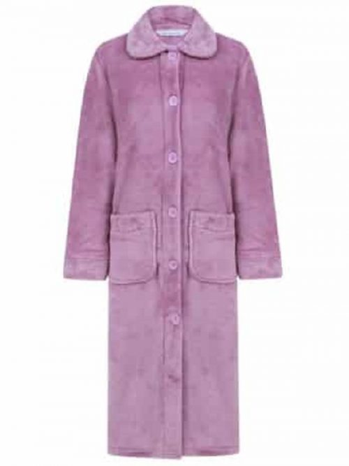 Luxury Dressing Gown Button Through Slenderella