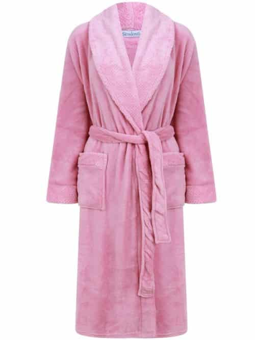Luxury Pink Wrap Dressing Gown Slenderella
