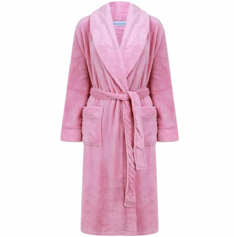 Luxury Pink Wrap Dressing Gown Slenderella