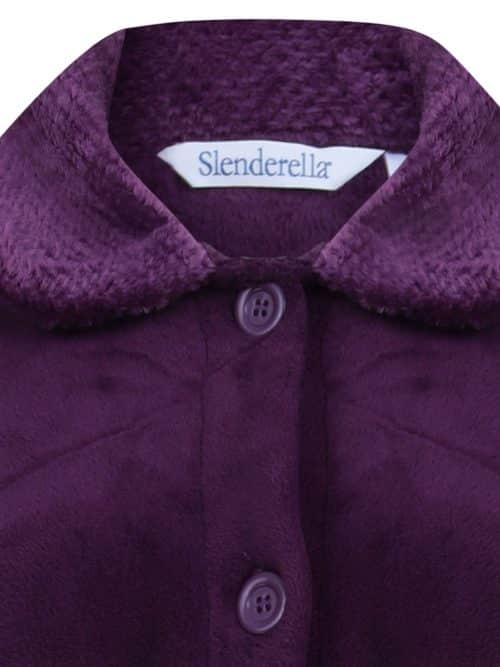 Luxury Plum Dressing Gown Button Down Slenderella