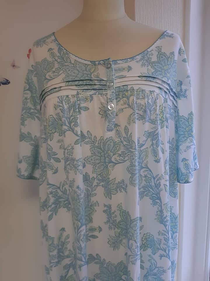 Marlon Turquoise Floral Nightdress