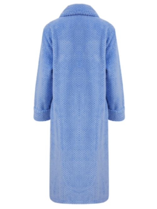 Luxury Zip Up Dressing Gown Slenderella Blue