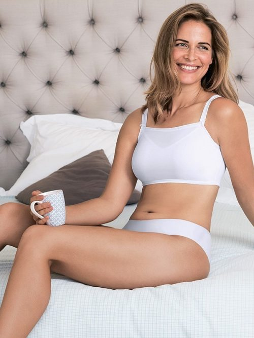 Anita Crop Bandeau Top White