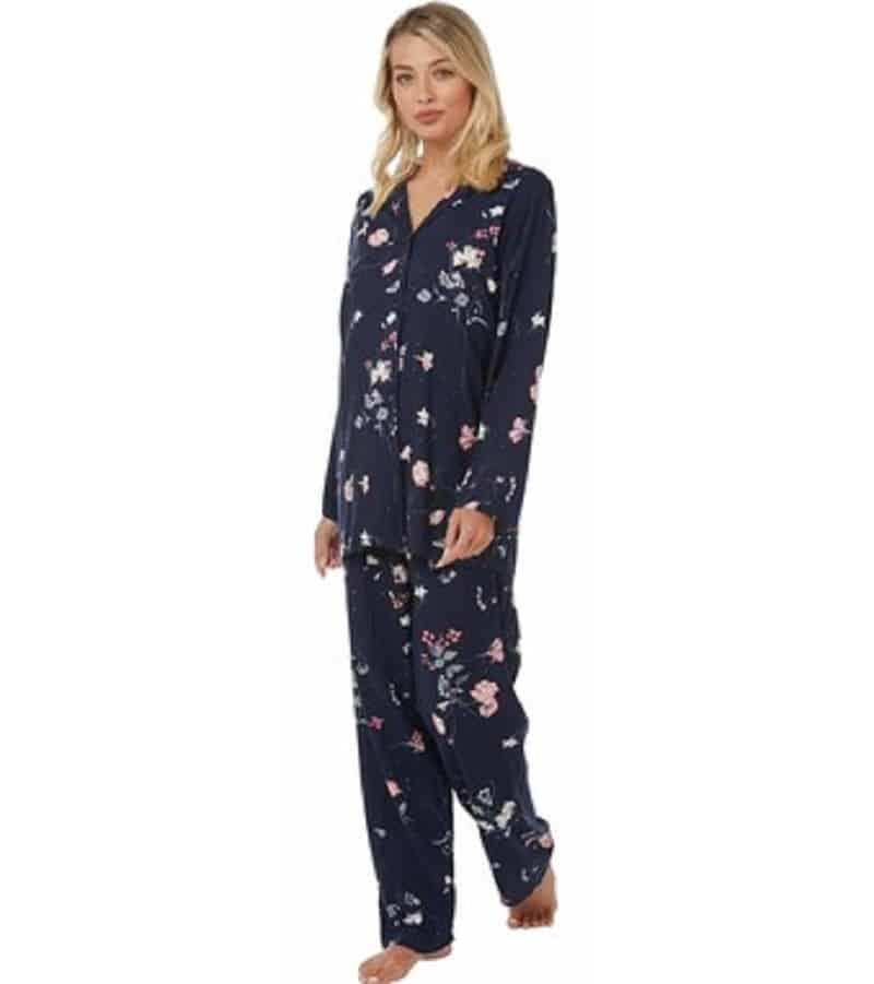 Indigo Sky Floral Print Pyjamas