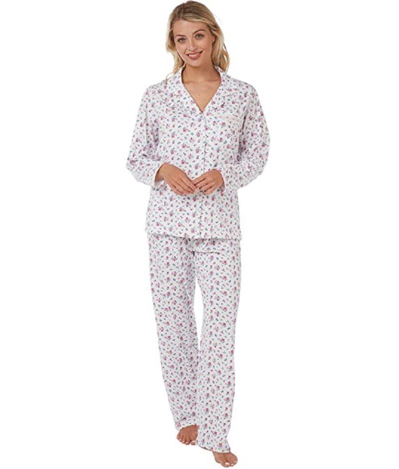 100% Cotton Summer Print Pyjamas Sara Pink