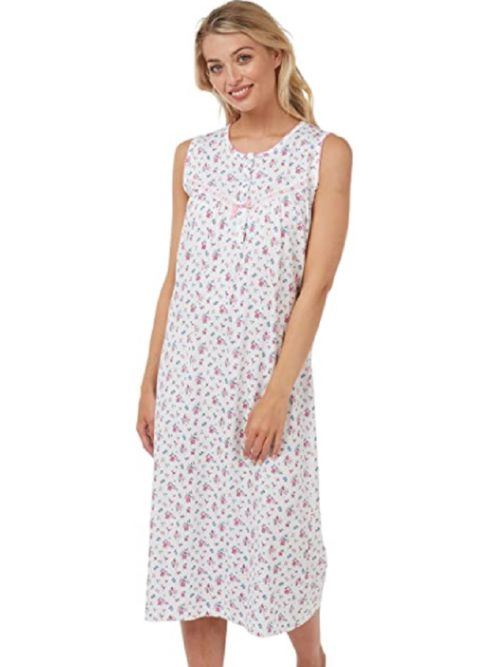 Cotton Pink Nightdress Sleeveless Marlon Mia