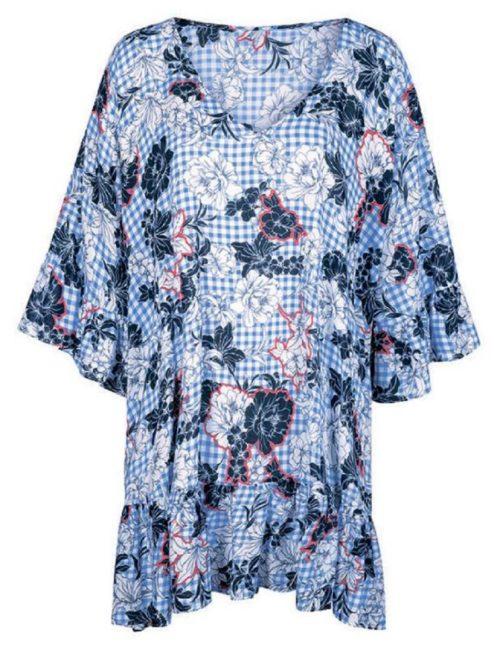 Beach dress Blue Check Anita