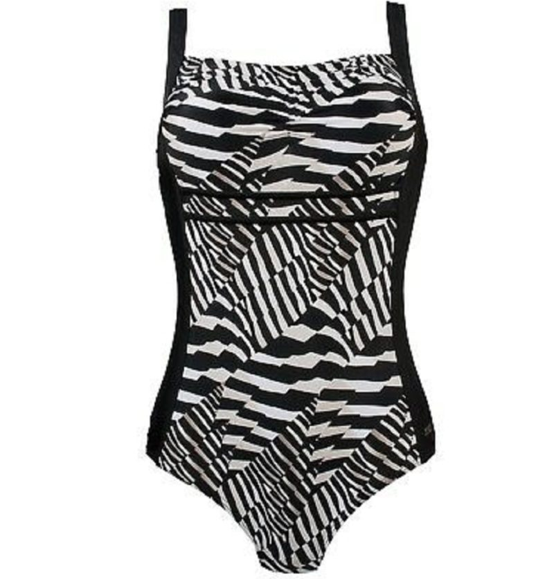 Naturana black wave Swimsuit
