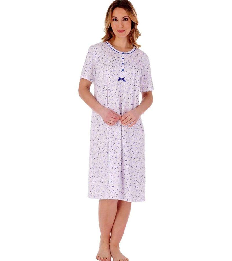 100% Cotton Short Sleeve Nightdress Slenderella