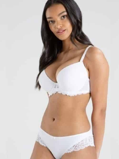 Pour Moi Forever Fiore Padded Plunge White Bra