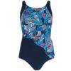 Nicola Jane Aruba Navy Floral Swimsuit