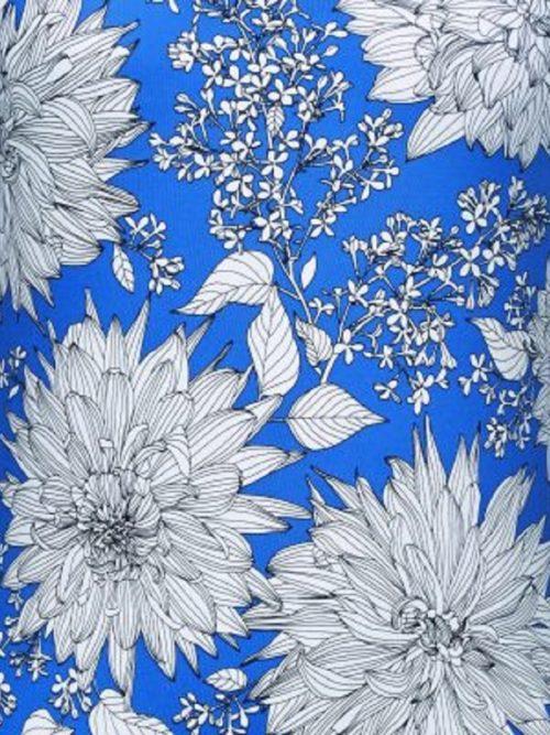 Amoena Jersey Denim Blue floral swimsuit