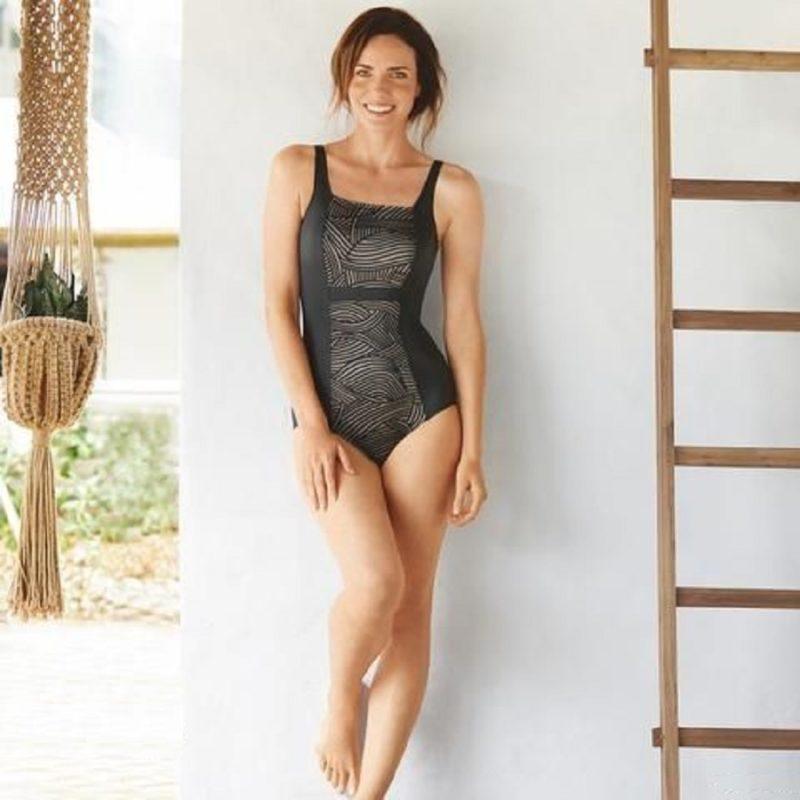 Amoena Cayman Black metalic swimsuit