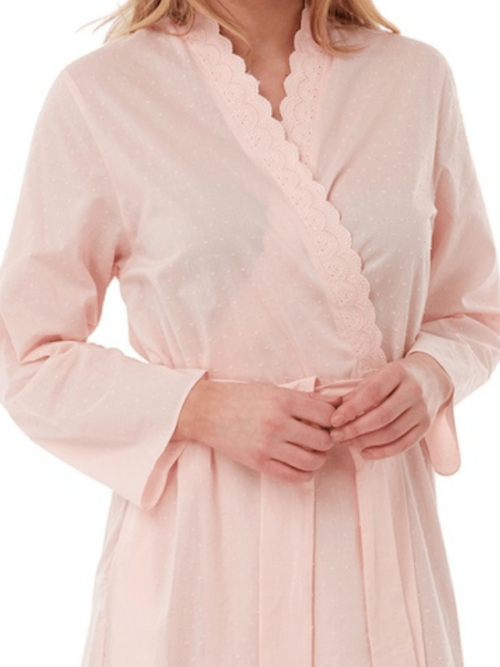 100% Cotton Dressing Gown Marlon Pink