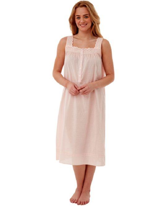 100% Cotton Sleeveless Button Down Nightdress Marlon