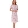 Cotton Animal Print Nightdress Indigo Sky