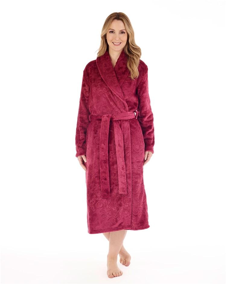 Slenderella Wrap Dressing Gown  Raspberry