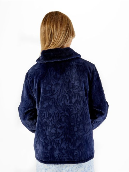 Navy Luxury Bed Jacket Slenderella